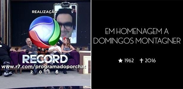 """""""Programa do Porchat"""" presta homenagens ao ator de """"Velho Chico"""" - Reprodução/TV Record"""