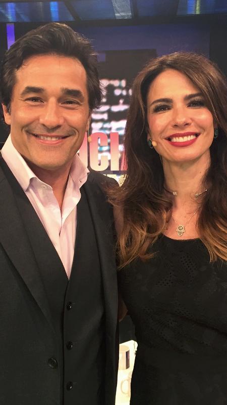 """Luciano Szafir é entrevistado por Luciana Gimenez no """"Luciana by Night"""" - Divulgação/RedeTV"""