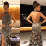 A atriz Luma Costa mostra no Instagram a frente e o verso da roupa que vai usar no baile de Carnaval do Copacabana Palace, realizado na noite deste sábado - Reprodução/Instagram/@lumacostaa