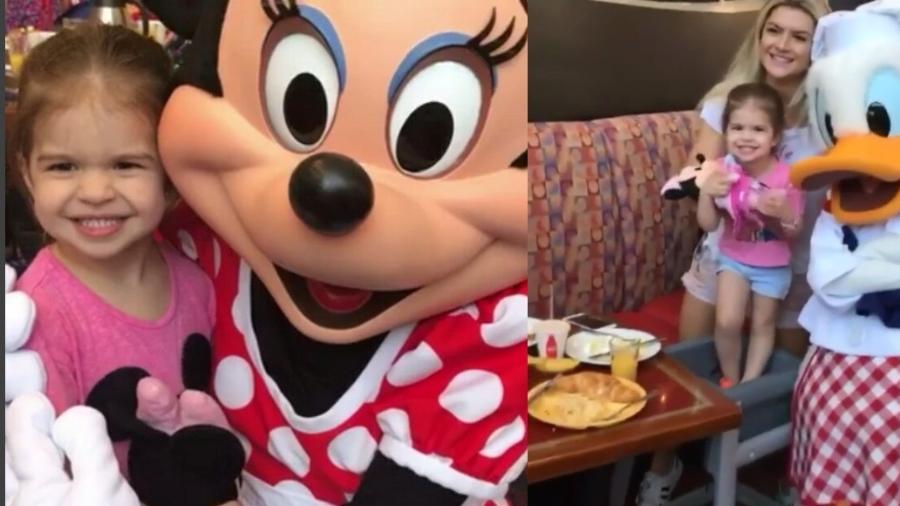 Valentina Muniz se diverte com Minnie e Pato Donald na Disney - Reprodução/Instagram