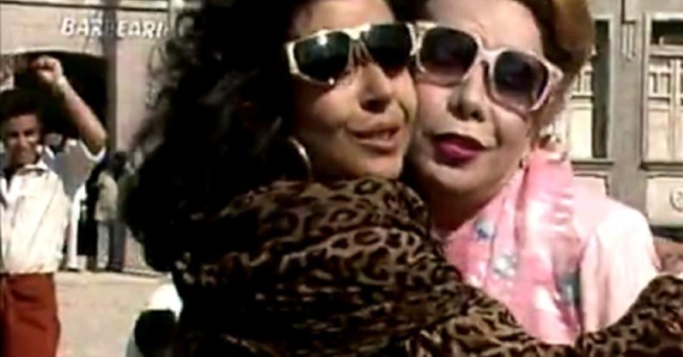 """Rogéria e Betty Faria em """"Tieta"""" (1989)"""