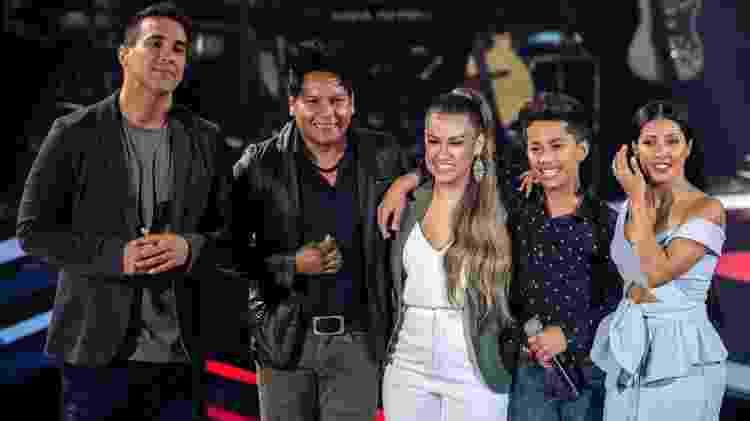 Simone e Simaria com o candidato Augusto Michel - Fabio Rocha/TV Globo - Fabio Rocha/TV Globo