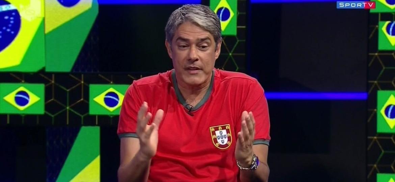 """Na TV, Bonner é questionado sobre separação por ex-CQCs: """"Separação do SP"""" - Reprodução/SporTV"""
