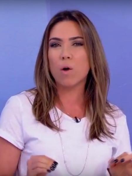 Patricia Abravanel durante o programa de Silvio Santos - Reprodução de vídeo