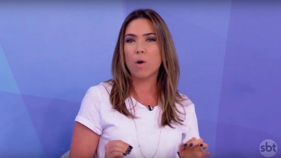 """Patricia Abravanel participando do """"Programa Silvio Santos"""" - Reprodução de vídeo"""