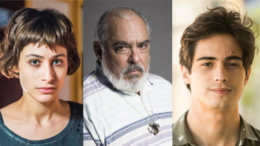 """Manuela, Agenor e Valentim são campeões do ranço em """"Segundo Sol"""" - Montagem/UOL"""