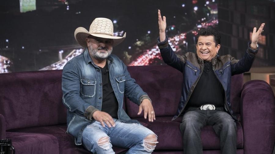 Solimões no programa do Porchat - Edu Moraes/RecordTV/Divulgação