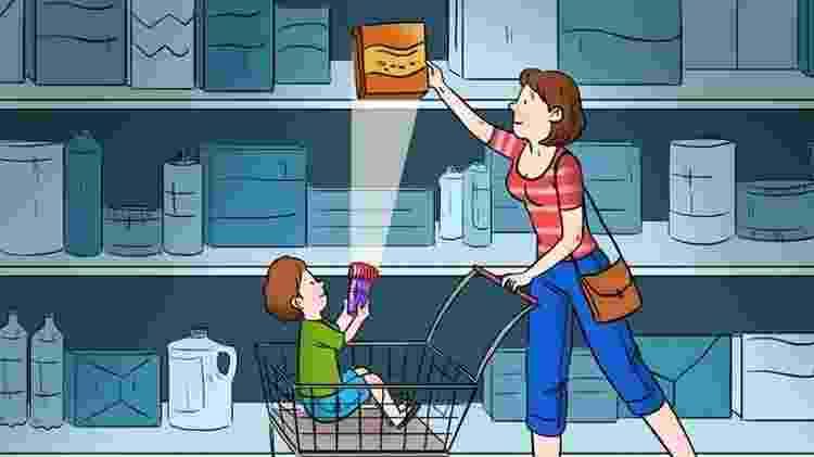 Mãe e filho no mercado - Reprodução/Brightside - Reprodução/Brightside