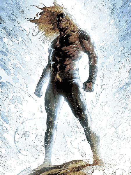 Aquaman ilustrado pelo brasileiro Robson Rocha - Reprodução/DC Comics/Entertainment Weekly