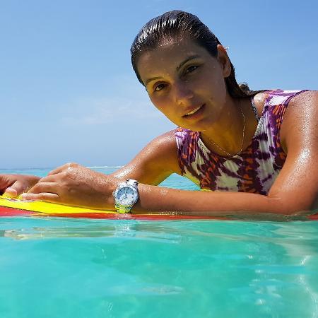 A surfista Maya Gabeira - Reprodução/Facebook