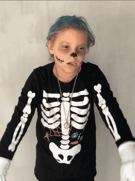 David Lucca, filho de Neymar, fantasiado para o Halloween - Reprodução/Instagram