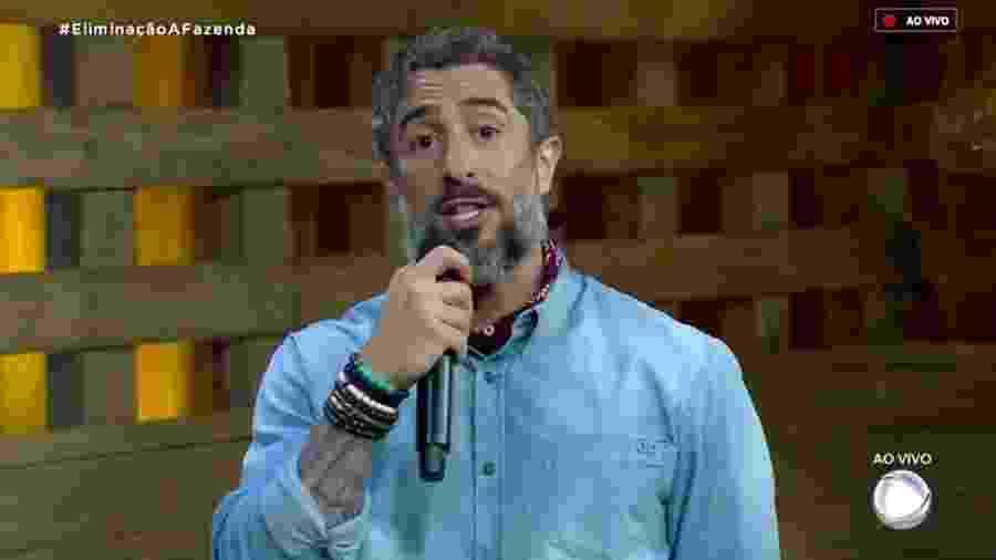"""Marcos Mion em """"A Fazenda 10"""" - Reprodução/RecordTV"""