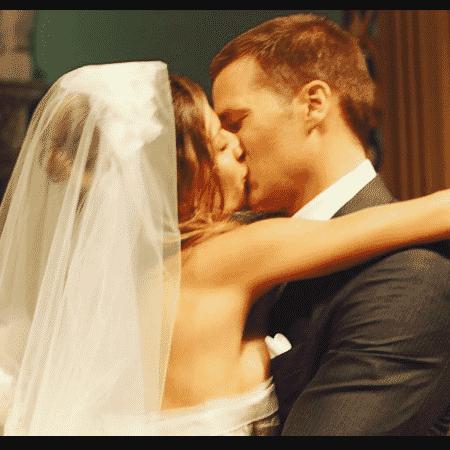 Gisele Bündchen e Tom Brady no dia do casamento, há 10 anos - Reprodução/Instagram