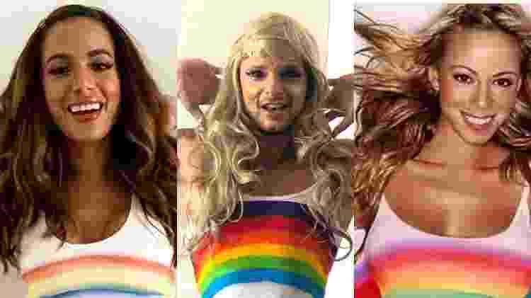 O personal Andrey Mognato faz versão do look de Anitta inspirado em Mariah Carey - Reprodução/Instagram - Reprodução/Instagram