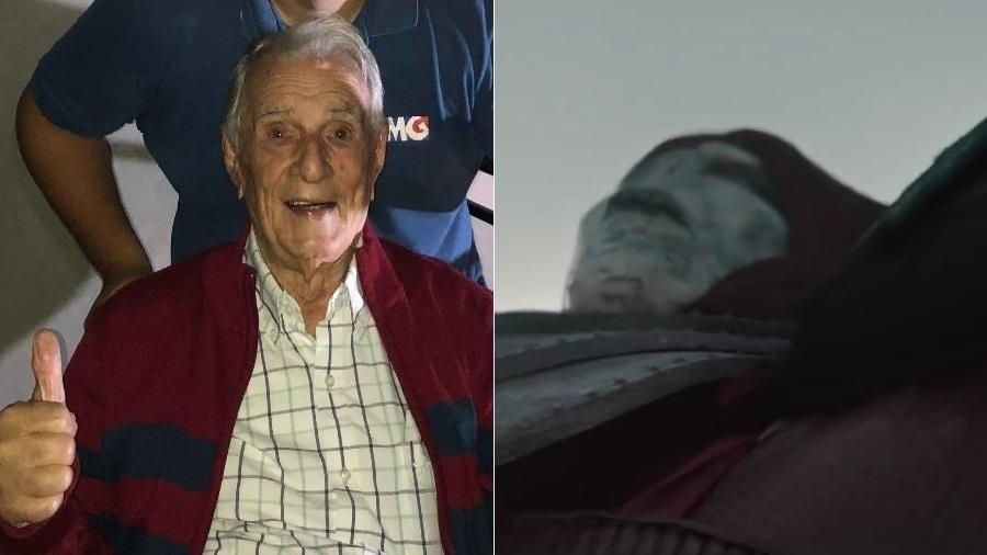 """Orlando Drummond dublou Vingador no comercial de """"Caverna do Dragão"""" - Montagem/UOL/Reprodução/Instagram/YouTube"""