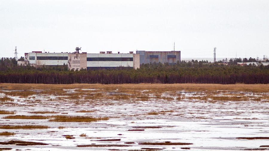 Base militar na pequena cidade de Nyonoska na região de Arkhangelsk, na Rússia - AFP
