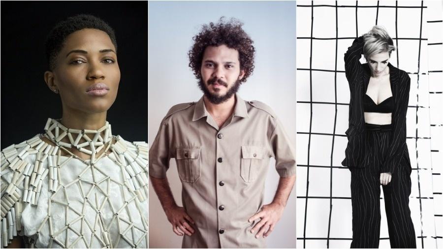 Luedji Luna, Saulo Duarte e Nina Becker - Montagem/UOL