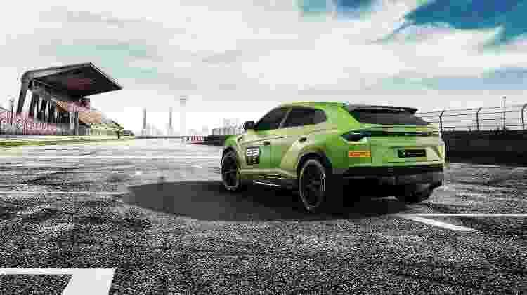 Urus ST-X traz rodas de competição e pequeno aerofólio traseiro. Motor V8 biturbo mantém os 650 cv de potência - Divulgação