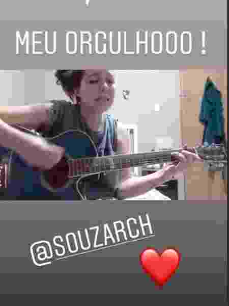 """Latino mostra video da filha cantando gospel: """"Meu orgulho"""" - Reprodução/Instagram"""