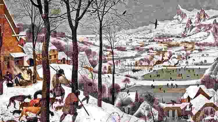 """""""Caçadores na neve"""", de Pieter Bruegel - Divulgação - Divulgação"""