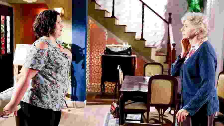 Nancy conta para a avó que Waldisney é filho da chefe do crime - Lourival Ribeiro/SBT