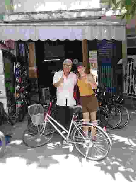 Depois das cicloviagens, Helga decidiu viver viajando pelo mundo como nômade digital - Acervo pessoal