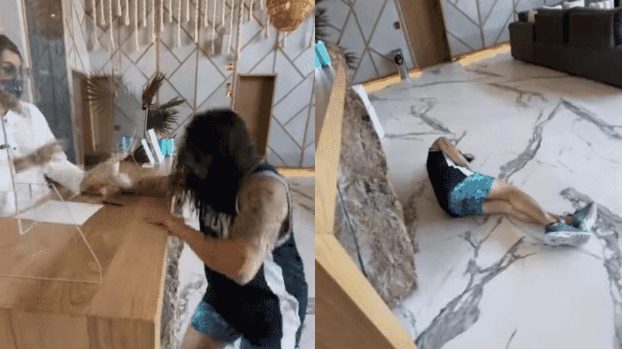 """Whindersson """"trollou"""" funcionária de hotel no México ao medir temperatura - Reprodução/Instagram/@whinderssonnunes"""
