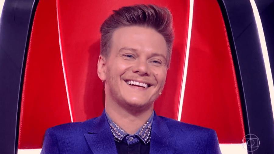 """Michel Teló durante o programa """"The Voice Brasil"""" - Reprodução / TV Globo"""