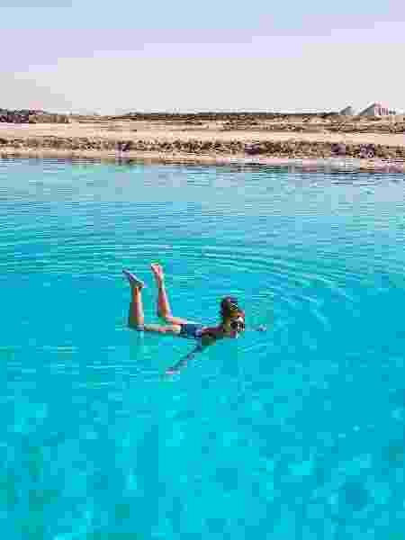 Lago de sal em Siwa, no Egito - Arquivo pessoal - Arquivo pessoal