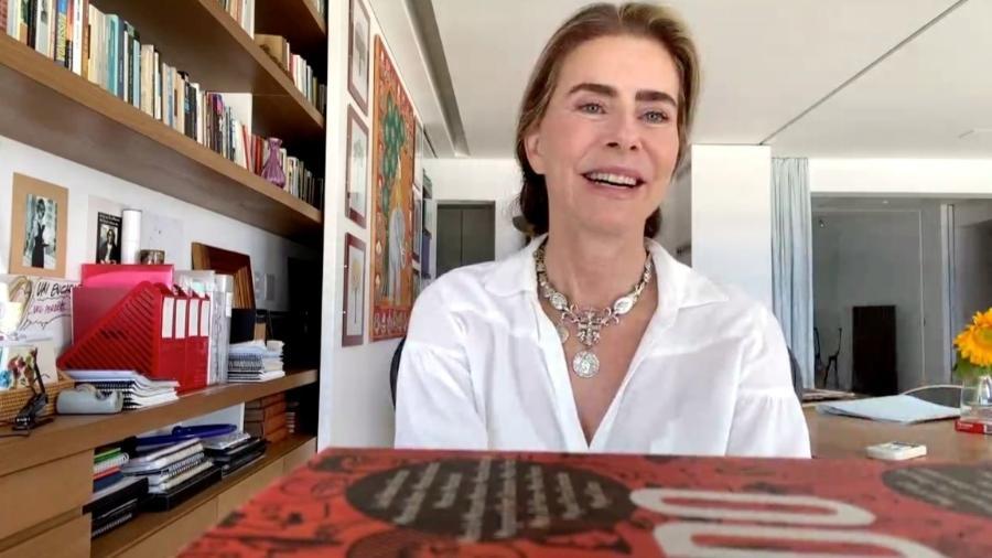 Maitê Proença durante entrevista ao TV Fama, da RedeTV - Divulgação/RedeTV!