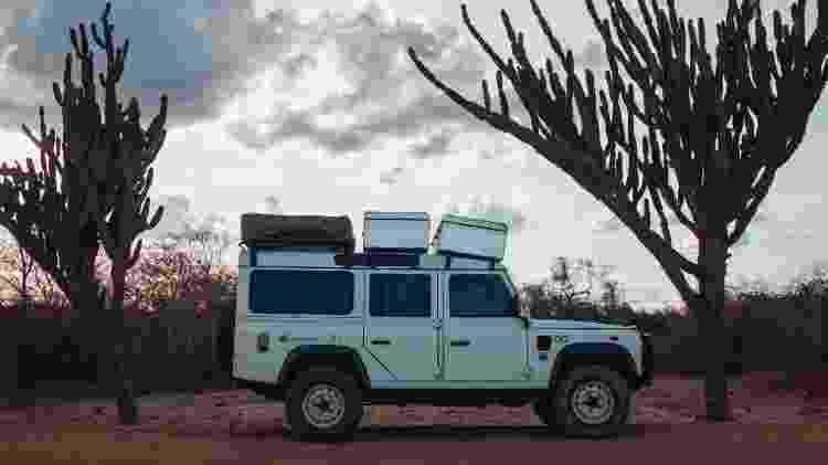Carro do casal na região de Campo Alegre de Lourdes, na Bahia - Arquivo pessoal - Arquivo pessoal
