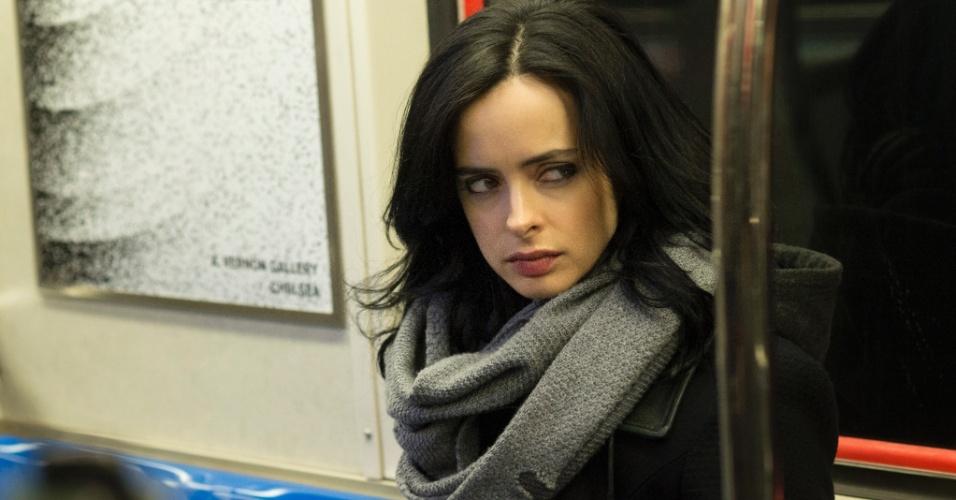 """Krysten Ritter é a protagonista da série """"Jessica Jones"""", que estreia na Netflix no dia 20 de novembro"""
