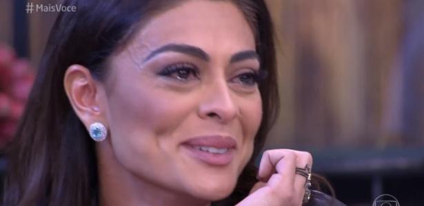"""Juliana Paes recebe declaração do marido e se emociona no """"Mais Você"""" desta quinta (19) - Reprodução/Rede Globo"""