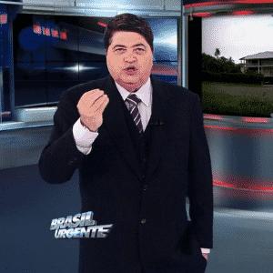 """José Luiz Datena, apresentador do """"Brasil Urgente"""", programa policial da Band - Reprodução/TV Bandeirantes"""