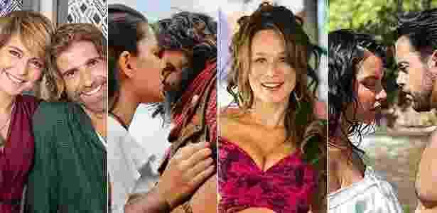 """""""A Lei do Amor"""", """"A Terra Prometida"""", """"Haja Coração"""" e """"Escrava Mãe"""" são algumas das novelas atualmente no ar no Brasil - Divulgação/Montagem UOL"""