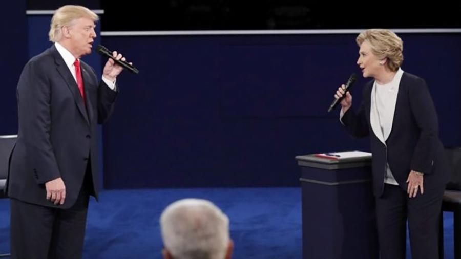 Donald Trump e Hillary Clinton em debate da última campanha presidencial nos EUA - Reuters