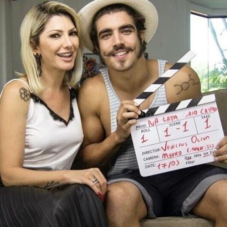 """Antônia entrevistou Caio Castro para seu canal no YouTube, o """"Na Lata"""" - Reprodução/Instagram"""