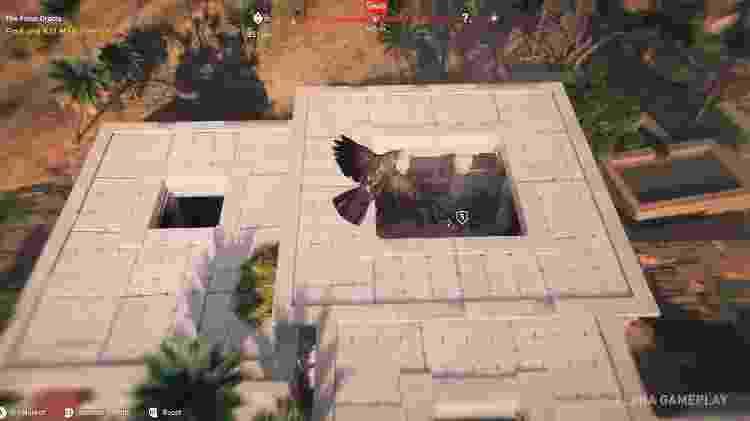 """A função de 'visão de águia' dos """"Assassin's Creed"""" anteriores retorna como uma visão de águia literal - Reprodução"""