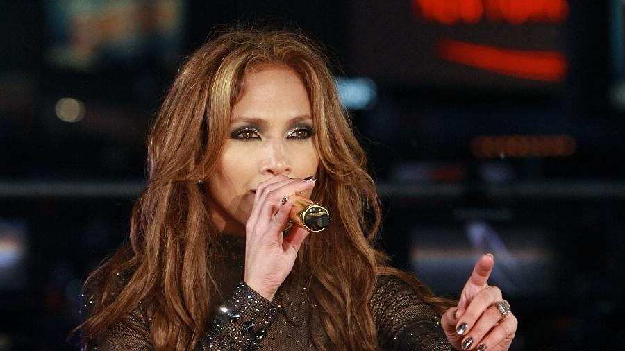 Jennifer Lopez em show no Ano Novo da Times Square - Getty Images