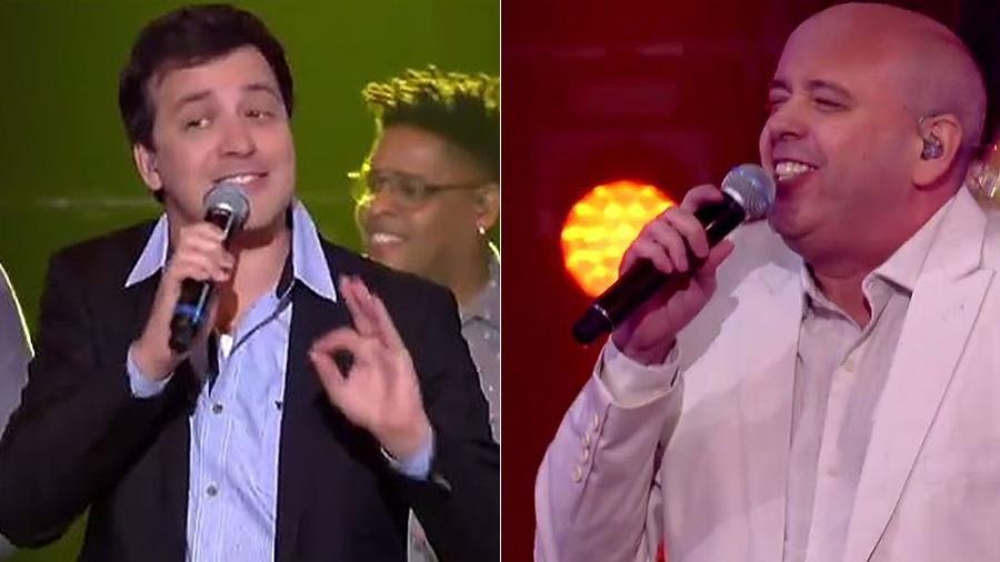"""Rafael Cortez e Alex Escobar foram eliminados do programa """"Popstar"""" deste domingo - Reprodução"""