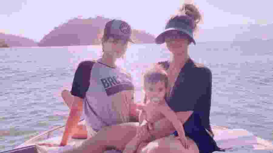 Kelly Key com os filhos, Artur e Suzanna - Reproduçao/Instagram/oficialkellykey
