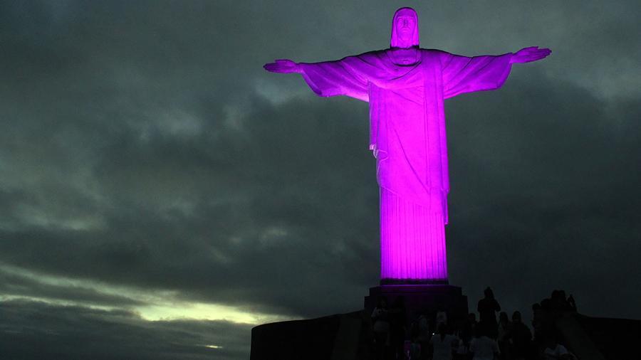 O Cristo Redentor mudará de cor neste Outubro Rosa - Divulgação