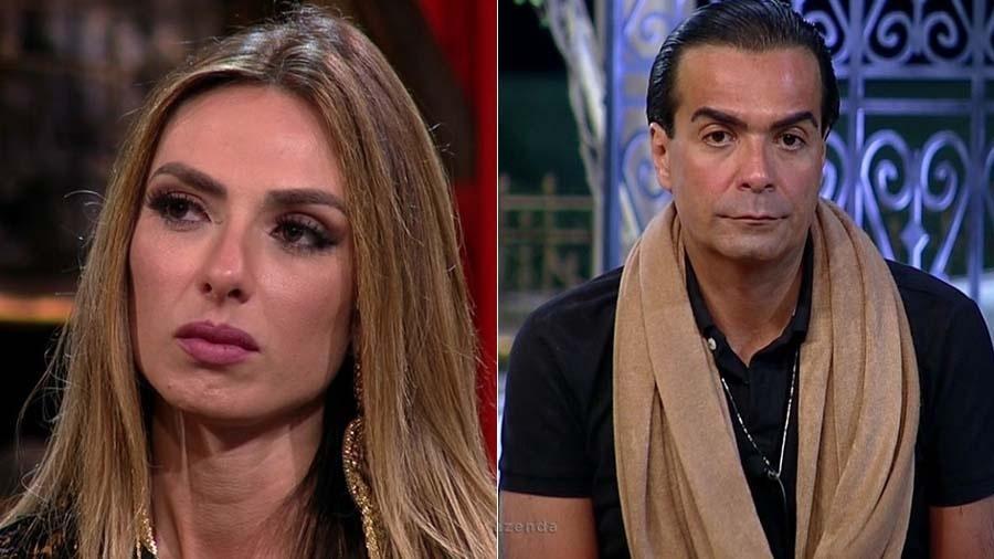 """Nicole Bahls e Fabio Arruda, eliminados de """"A Fazenda"""" - Montagem UOL"""