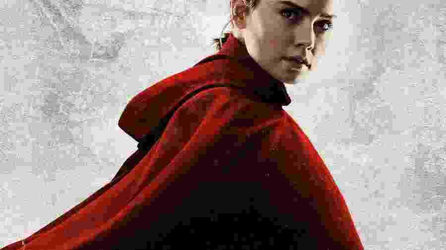 """Rey (Daisy Ridley) de """"Star Wars: Os Ùltimos Jedi"""" - Divulgação/Disney"""
