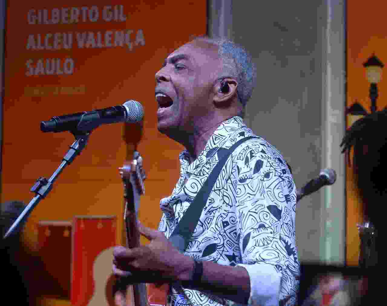 Gilberto Gil no Bar Brahma em SP - Francisco Cepeda/AgNews