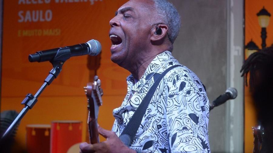 Gilberto Gil faz show no Bar Brahma em São Paulo durante o Carnaval - Francisco Cepeda/AgNews