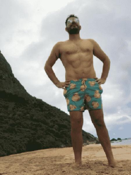 Barriga sarada de Evaristo Costa virou piada entre fãs - Reprodução/Instagram