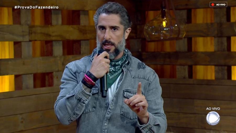"""Marcos Mion fala com o público antes de votação em """"A Fazenda 10"""" - Reprodução/RecordTV"""