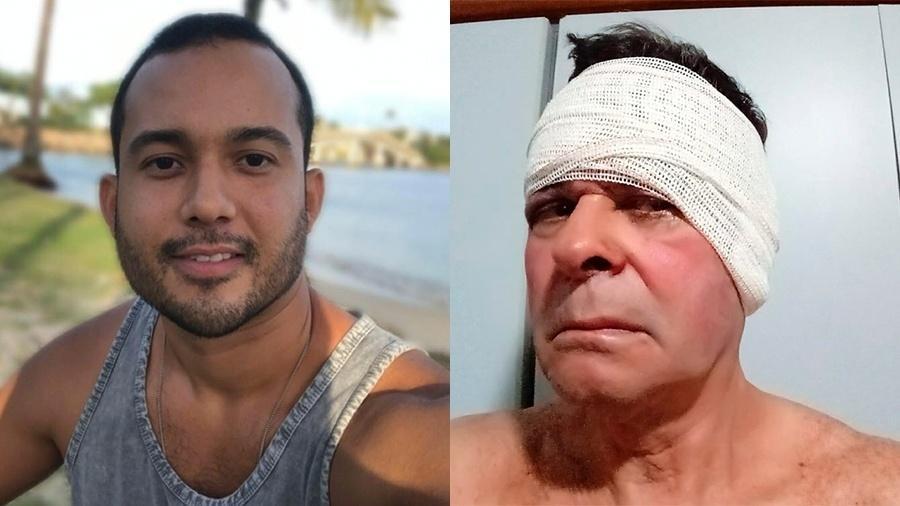 Rodrigo Maia, que aparece agredindo o aposentado Nildo Ferreira em vídeo diz que recebeu ameaças do vizinho - Reprodução