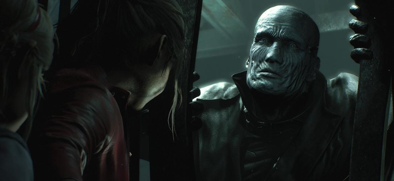 """O assustador Mr. X (ou Tirano) no remake de """"Resident Evil 2"""" - Reprodução"""